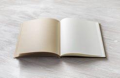 Ge?ffnetes unbelegtes Buch lizenzfreie stockbilder