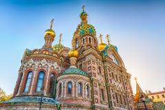 ge ? första erfarenh ? den kyrkliga petersburg russia frälsaren spilld st Royaltyfri Bild
