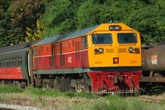 Ge (GEA)  locomotive. Ge or GEA locomotive in chiangmai train station, 37 ge locomotive, no 4523-4560 Royalty Free Stock Photo
