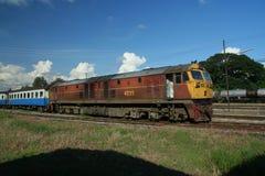 Ge (GEA)  locomotive. Ge or GEA locomotive in chiangmai train station, 37 ge locomotive, no 4523-4560 Stock Photography