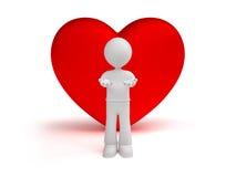 ge hjärta Arkivfoton