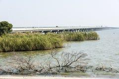 Ge lake bridge Stock Image