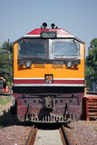 GE lokomotywa przy Chiangmai dworcem Obrazy Stock