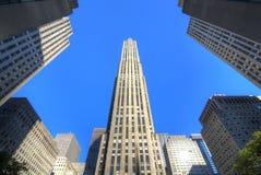 GE que constrói no centro de Rockefeller Foto de Stock