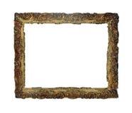 Ge?soleerd Fotokader, Gouden Antiek Fotokader royalty-vrije stock foto's