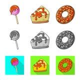 Ge?soleerd voorwerp van banketbakkerij en culinair pictogram Inzameling van banketbakkerij en product vectorpictogram voor voorra stock illustratie