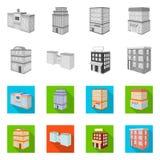 Ge?soleerd voorwerp van bouw en de bouwembleem Inzameling van bouw en landgoed vectorpictogram voor voorraad royalty-vrije illustratie