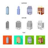 Ge?soleerd voorwerp van bouw en de bouwpictogram Inzameling van bouw en landgoed vectorpictogram voor voorraad stock illustratie