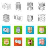 Ge?soleerd voorwerp van bouw en de bouwpictogram Reeks van bouw en landgoed vectorpictogram voor voorraad stock illustratie