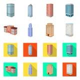 Ge?soleerd voorwerp van bouw en de bouwteken Inzameling van bouw en landgoed vectorpictogram voor voorraad vector illustratie
