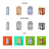Ge?soleerd voorwerp van bouw en de bouwteken Reeks van bouw en landgoed vectorpictogram voor voorraad royalty-vrije illustratie