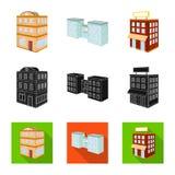 Ge?soleerd voorwerp van bouw en de bouwteken Reeks van bouw en landgoed vectorpictogram voor voorraad stock illustratie