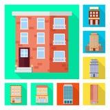 Ge?soleerd voorwerp van gemeentelijk en centrumsymbool Reeks van gemeentelijk en landgoed vectorpictogram voor voorraad stock illustratie