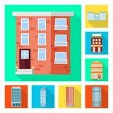 Ge?soleerd voorwerp van gemeentelijk en centrumteken Inzameling van gemeentelijk en landgoed vectorpictogram voor voorraad stock illustratie