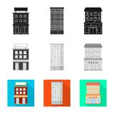 Ge?soleerd voorwerp van gemeentelijk en centrumteken Inzameling van gemeentelijk en landgoed vectorpictogram voor voorraad vector illustratie