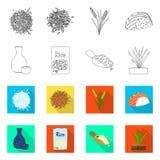 Ge?soleerd voorwerp van gewas en ecologisch pictogram Inzameling van gewas en kokend voorraadsymbool voor Web stock illustratie