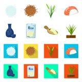 Ge?soleerd voorwerp van gewas en ecologisch symbool Inzameling van gewas en kokende voorraad vectorillustratie vector illustratie