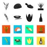 Ge?soleerd voorwerp van gewas en ecologisch teken Inzameling van gewas en kokend vectorpictogram voor voorraad royalty-vrije illustratie