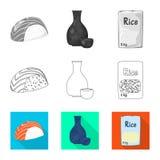 Ge?soleerd voorwerp van gewas en ecologisch teken Inzameling van gewas en kokende voorraad vectorillustratie vector illustratie