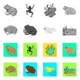 Ge?soleerd voorwerp van het wild en moerasteken Inzameling van het wild en reptielvoorraad vectorillustratie vector illustratie
