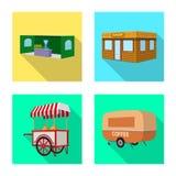 Ge?soleerd voorwerp van marketing en tentembleem Inzameling van marketing en openluchtvoorraadsymbool voor Web stock illustratie