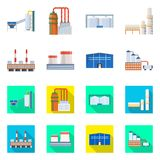 Ge?soleerd voorwerp van productie en structuursymbool Inzameling van productie en technologie vectorpictogram voor voorraad stock illustratie