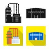 Ge?soleerd voorwerp van productie en structuursymbool Reeks van productie en technologievoorraad vectorillustratie stock illustratie