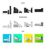 Ge?soleerd voorwerp van productie en structuurteken o royalty-vrije illustratie