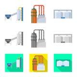 Ge?soleerd voorwerp van productie en structuurteken Reeks van productie en technologie vectorpictogram voor voorraad stock illustratie