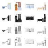 Ge?soleerd voorwerp van productie en structuurteken Reeks van productie en technologievoorraad vectorillustratie vector illustratie