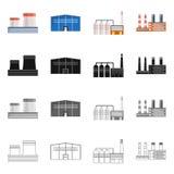 Ge?soleerd voorwerp van productie en structuurteken Reeks van productie en technologievoorraad vectorillustratie stock illustratie