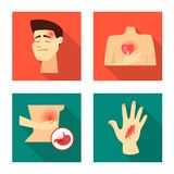 Ge?soleerd voorwerp van schade en gekronkeld pictogram Reeks van schade en het teruggeven van voorraadsymbool voor Web stock illustratie