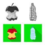 Ge?soleerd voorwerp van stortplaats en soortembleem Reeks van stortplaats en troep vectorpictogram voor voorraad stock illustratie