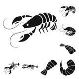 Ge?soleerd voorwerp van vlees en delicatesseteken Reeks van vlees en krabvoorraadsymbool voor Web royalty-vrije illustratie