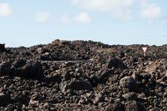 Ge vägen i lavan Fotografering för Bildbyråer