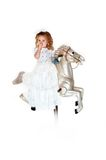 Geabsorbeerd in haar eigen wereld Royalty-vrije Stock Foto