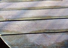 Geada branca ou gelo em um tampo da mesa Fotografia de Stock Royalty Free