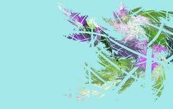 A geada do fractal no vidro ilustração do vetor
