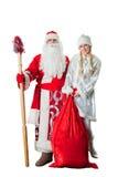 Geada do pai do russo e donzela da neve Fotografia de Stock Royalty Free