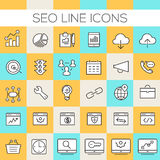 Gealigneerd SEO Icons Collection Royalty-vrije Stock Afbeelding