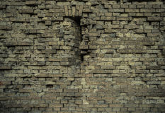 Gealterte alte Backsteinmauerbeschaffenheit Stockfotos