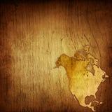 Gealterte Amerika-Karte Stockbilder