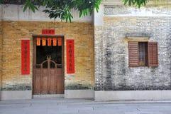 Gealterte Architektur in Südchina Stockbild