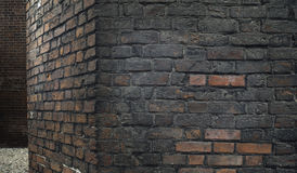 Gealterte Backsteinmauer Lizenzfreie Stockbilder