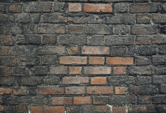Gealterte Backsteinmauer Stockbild