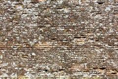 Gealterte Backsteinmauer Stockfotos