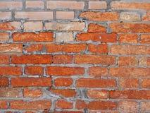 Gealterte Backsteinmauer Stockfotografie
