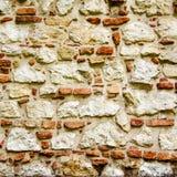 Gealterte Backsteinmauerbeschaffenheit oder -hintergrund Struktur der Ziegelsteine Lizenzfreie Stockbilder
