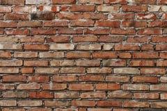 Gealterte Backsteinmauerhintergrundbeschaffenheit stockbilder