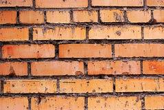 Gealterte braune Beschaffenheit der Wandziegelsteine Lizenzfreies Stockbild